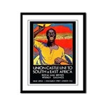 African Poster Framed Panel Print