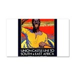 African Poster Car Magnet 12 x 20