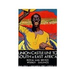 African Poster Rectangle Magnet (10 pack)