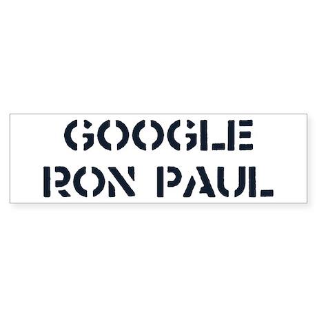 Google Ron Paul Sticker (Bumper)