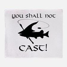 You Shall Not Cast Gandalf Muskie Throw Blanket