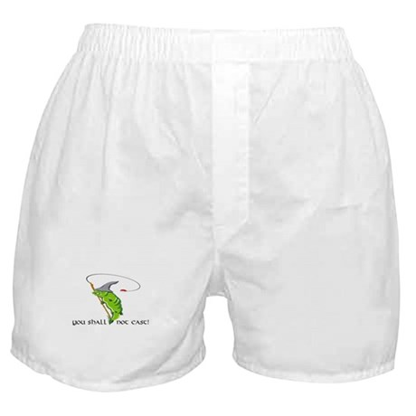 Gandalf You Shall Not Cast Fishing Boxer Shorts