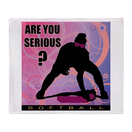 2011 Softball 47 Throw Blanket
