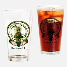 Broderick Clan Motto Drinking Glass