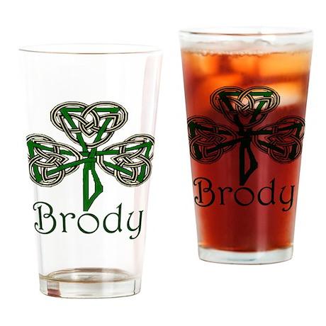 Brody Shamrock Drinking Glass