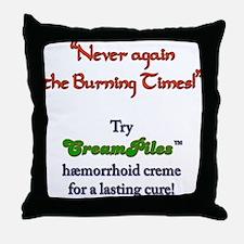 CreamPiles Throw Pillow