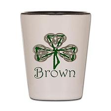 Brown Shamrock Shot Glass