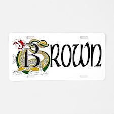 Brown Celtic Dragon Aluminum License Plate