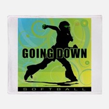 2011 Softball 27 Throw Blanket