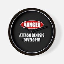 ATTACK GENESIS DEVELOPER Wall Clock