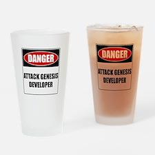 ATTACK GENESIS DEVELOPER Pint Glass