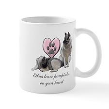 Elkie Pawprints Small Mug