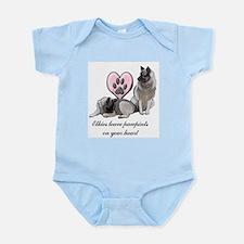 Elkie Pawprints Infant Bodysuit