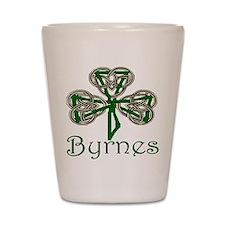Byrnes Shamrock Shot Glass