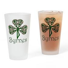 Byrnes Shamrock Drinking Glass