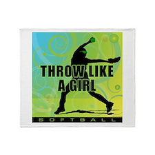 2011 Softball 9 Throw Blanket