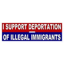 Support Deportation Bumper Bumper Sticker