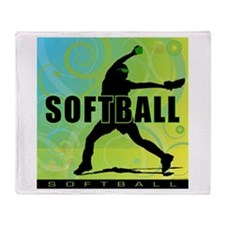 2011 Softball 6 Throw Blanket