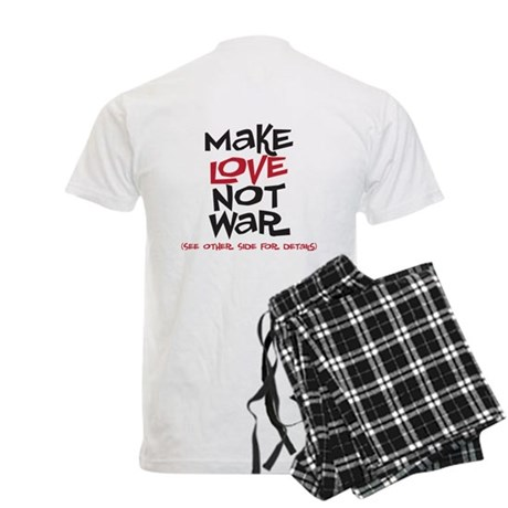 MAke Love Not War (backside) Men's Light Pajamas