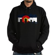 Denver, Colorado Flag Distressed Hoodie