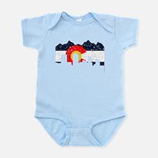 Denver, Colorado Flag Distressed Infant Bodysuit