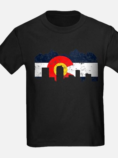 Denver, Colorado Flag Distressed T