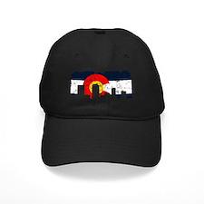 Denver, Colorado Flag Distressed Baseball Hat