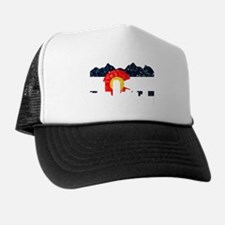 Denver, Colorado Flag Distressed Trucker Hat