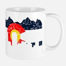 Denver, Colorado Flag Distressed Mug