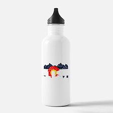Denver, Colorado Flag Distressed Water Bottle