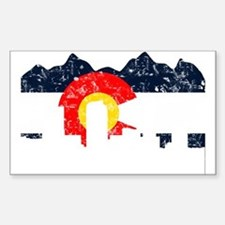 Denver, Colorado Flag Distressed Bumper Stickers