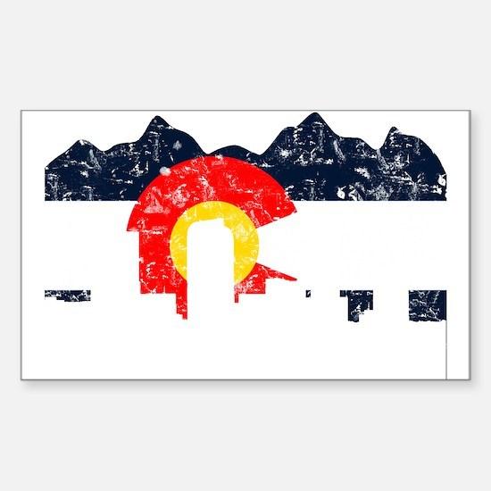 Denver, Colorado Flag Distressed Decal