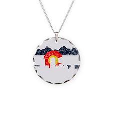 Denver, Colorado Flag Distressed Necklace