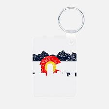 Denver, Colorado Flag Distressed Keychains