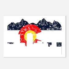 Denver, Colorado Flag Distressed Postcards (Packag