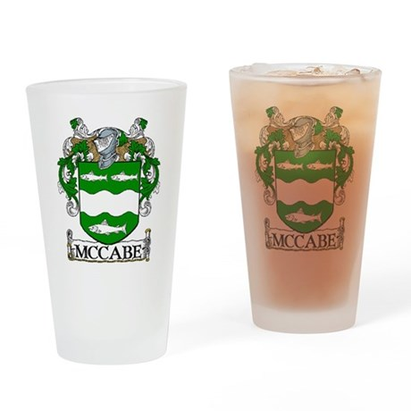 McCabe Coat of Arms Drinking Glass