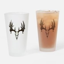 whitetail skull Drinking Glass