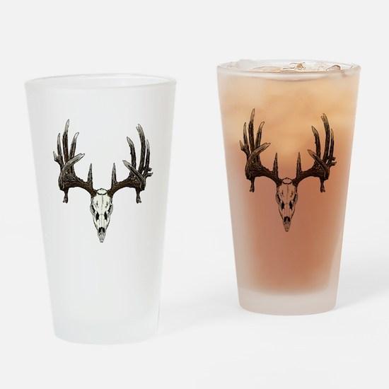 whitetail skull Drinking Glass