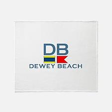 Dewey Beach DE - Nautical Design Throw Blanket