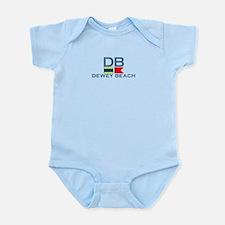 Dewey Beach DE - Nautical Design Infant Bodysuit