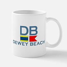 Dewey Beach DE - Nautical Design Mug