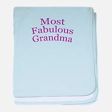 Most Fabulous Grandma baby blanket