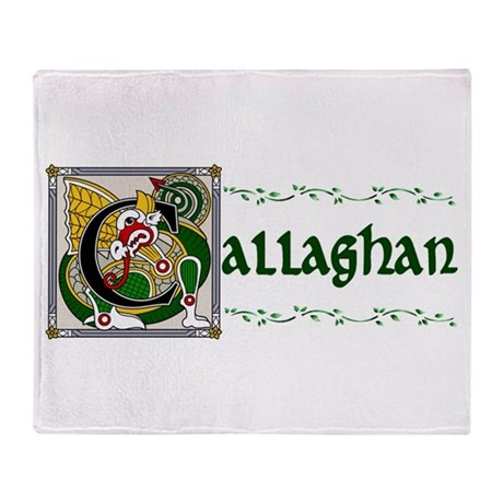 Callaghan Celtic Dragon Throw Blanket