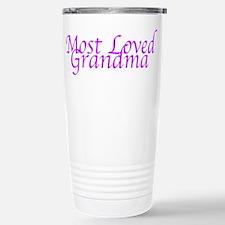 Most Loved Grandma Stainless Steel Travel Mug