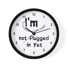 Plugged In Wall Clock