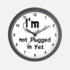 Plugged In Wall Clock