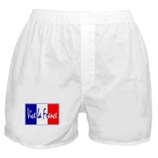 French Flag Vive La France Boxer Shorts