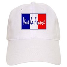 French Flag Vive La France Baseball Cap