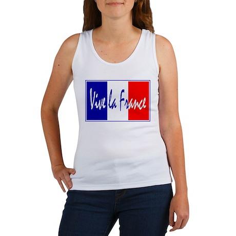 French Flag Vive La France Women's Tank Top