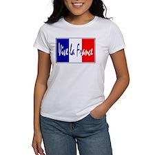 French Flag Vive La France Tee